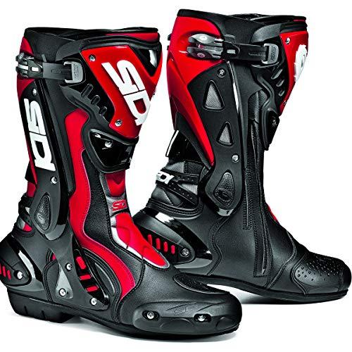 Sidi ST Schwarz/Rot Motorrad Sport Race Stiefel + kostenloser Socken New