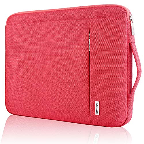 Landici 360 Protective Laptop Case Sleeve 13 13.3 Inch,Slim Computer Bag Cover with Handle Compatible with 2018-2021 MacBook Air/Pro M1,13.5 Surface Book 3,Chromebook,XPS 13,Jumper 13.3 Notebook-Red