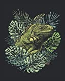 Tropical Iguana: Animal Lover Gift Idea for Women And Men - Monthly Weekly Planner / Journal (8' X 10' - January 2021 - December 2021 - 122 Pages)