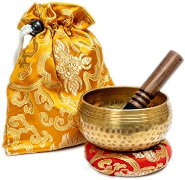 Tibetan Singing Bowl Set 3 75 from Nepal Special portable design suitable for Yoga Meditation product image