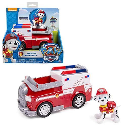 PAW PATROL Auswahl Fahrzeuge | Mit beweglichen Spielfiguren, Figur:Marshall Major