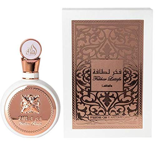 Perfume Fakhar Pride 100 ml, agua de perfume para mujer, perfume árabe, occidental, perfume femenino, almizcle halal, notas: rosa, jazmín, ylang, pachuli, vetiver