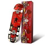 Hikole スケートボード 31インチ x 8インチ コンプリートプロスケートボード ダブルキック 7層 カナディアンメープルウッド 大人用トリックスケートボード 初心者用 誕生日プレゼント 男の子/女の子向け 5歳以上 (2:GF)