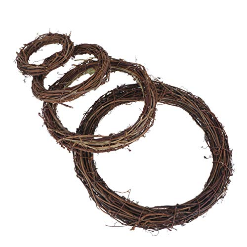 EXCEART 4 Pcs Grapevine Wreaths Christmas Rattan Vine Branch Wreath Garland Hanging Wreaths Decoration for Christmas Holiday Craft Supplies
