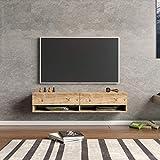Yurupa TV Board hängend Lowboard Hängeschrank Hängeboard Wohnwand Holzoptik FR11-A