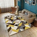 Kunsen Polígono Moderno Minimalista Minimalista Creativo Geométrico Pila Salón Salón Alfombra Grande Se Puede Personalizar alfombras Rebajas alfombras Infantiles Grandes Alfombra de animales120X180CM