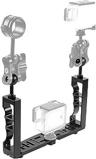 XIAODUAN-Onderwater fotografie gereedschap- - Verstelbare Diving Dual Hand-held CNC Aluminium lamparm houder for Diving onderwaterfotografie System