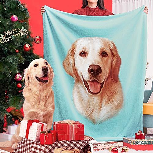 Custom Dog Photo Blanket