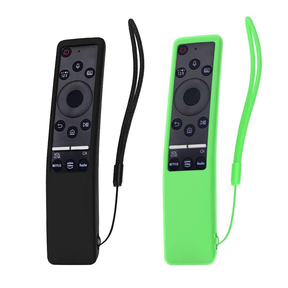 SIKAI 2-Pack Estuche Protector de Control Remoto Compatible con Samsung Mando a Distancia BN59-01274A BN59-01242A BN59-01259E Protección de Silicona a Prueba de Golpe (Negro-Luminoso Verde): Amazon.es: Electrónica