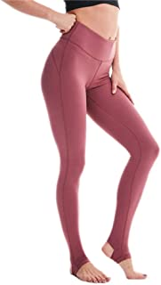 Whitewed Women's Solid Nylon Yoga Fitness Sports Stirrup Leggings Pants w Pocket