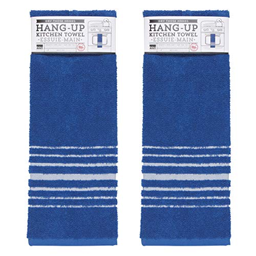 Now Designs 2240211aa Hang Up Kitchen Towels, Set of Two, Royal Blue