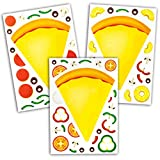 24 Make A Pizza Stickers For Kids - Great For Pizza Parties & Pizza Family Night - Let Your Kids Get Creative & Design Their Favorite Pizza Stickers - Fun Craft Project For Children Ages 3+