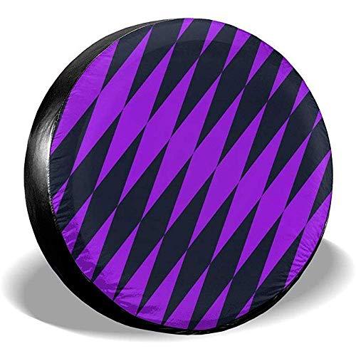 Olive Croft Cubierta del neumático de Repuesto Protector de la Cubierta del neumático de la Rueda - Textura de Color Negro Mixto púrpura Apto para Remolque, RV, SUV y Muchos vehículos 14-17inch