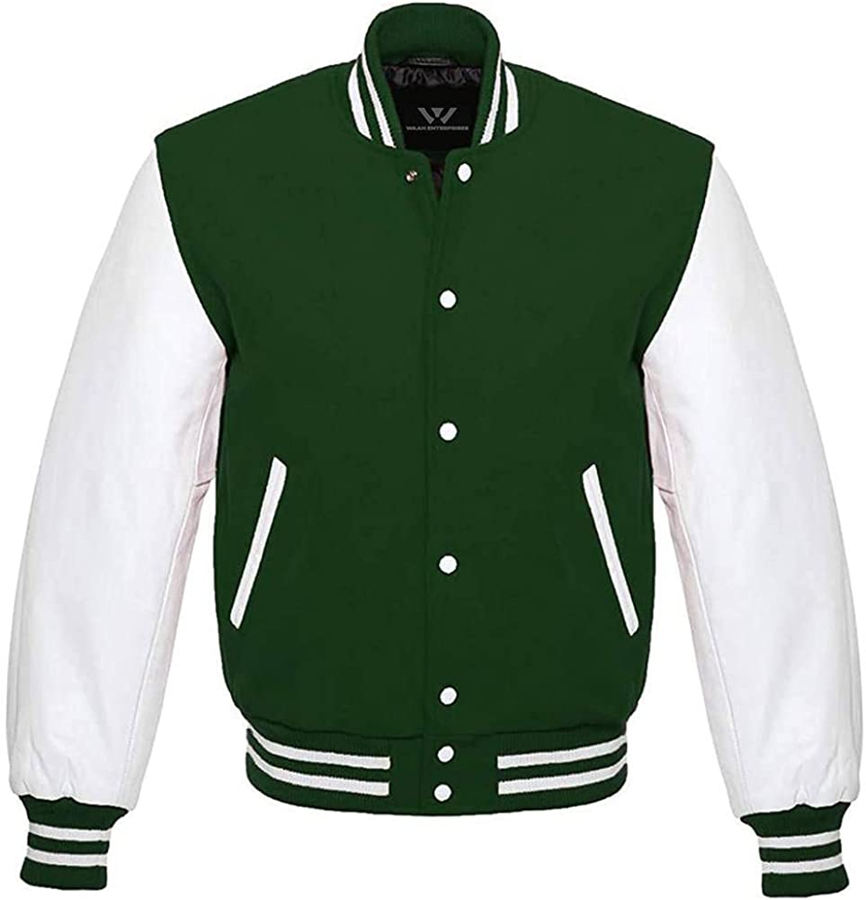 Baseball Letterman Bomber Limited Special Price School College Green Jacket Varsity Our shop most popular Wo