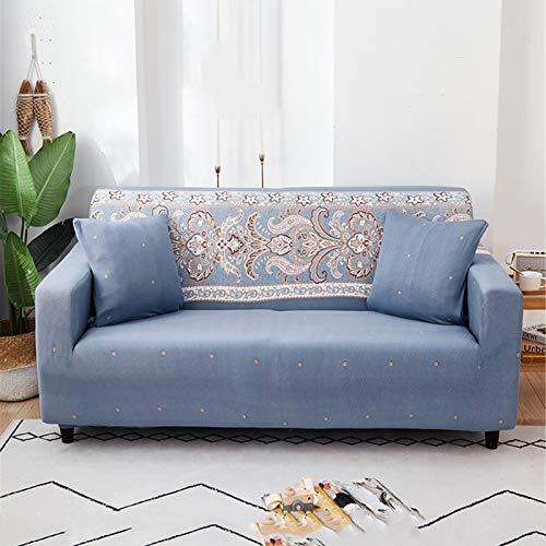 ZYRLWJ Couch Überzug 1 2 3 4 Sitzer Bedruckte Couchbezug Antirutsch Dehnbar Sofa Abdeckung Mit 2 Kissenbezug Sofaüberzug (F-01,1 Sitzer)