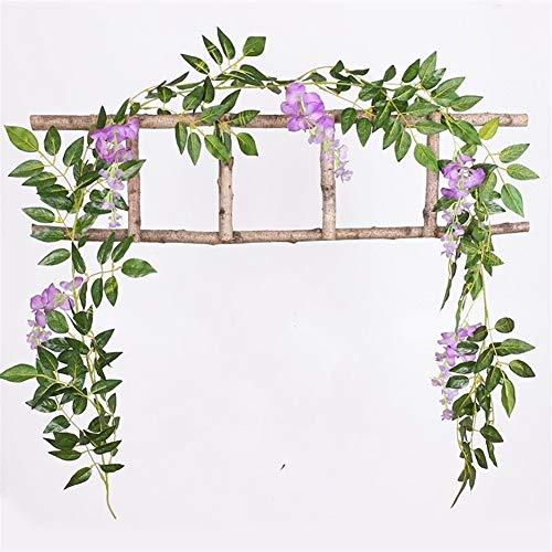 Without brand XXF-jh, 200cm Wisteria künstliche Blumen Rebe Garland Hochzeit Bogen Dekoration Gefälschte Pflanzen Rattan Rollier Faux Blumen Efeu-Wand (Farbe : 4)