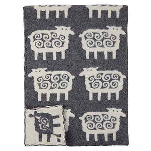 クリッパン ウールブランケット 130×180 ヒツジ 【シープグレー220802】 Sheep grey シングル [並行輸入品]