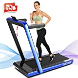 ANCHEER 2 in1 Folding Treadmill, 2.25HP Under Desk Electric Treadmill with Remote Control and Bluetooth...