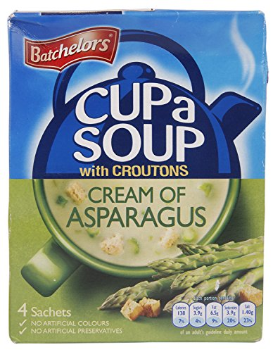 Batchelors Cup a Soup with Croutons Cream of Asparagus 4 Sachets 117 g (Pack of 9) by Batchelors