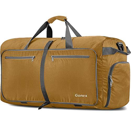 Gonex Bolsa de Viaje 150L, Plegable Ligero Bolso Equipaje Maleta Grande Bolsas Deportes Gimnasio Maletas de Mano Impermeable Duffel Travel Bag para Hombres y Mujeres Fin de Semana (Morado)