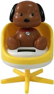 Iuhan Cute Cartoon Solar Powered Dancing Sofa Animal Swinging Animated Bobble Dancer Toy Car Decor (Yellow)