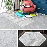 Livelynine Peel and Stick Floor Tile 12X12 Inch 32 Pack Light Grey Marble Peel and Stick Vinyl Flooring Sheet Kitchen Flooring Tiles Bathroom Stick on Floor Tile Stickers Bedroom Laminate Linoleum