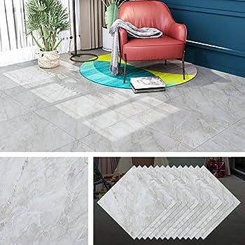 Livelynine Waterproof Peel And Stick Floor Tile 12X12 Inch 16 Pack Light Grey Vinyl Flooring Peel And Stick Tile For Kitchen Farmhouse Bedroom Bathroom Floors Wall Backsplash Self Adhesive Floor Tiles