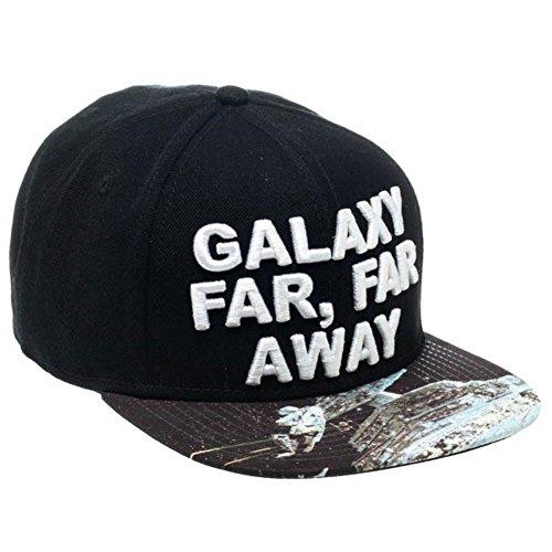 Star Wars Officiel Galaxy Far, Far Away Sublimé Bill Black Snapback Cap Hat