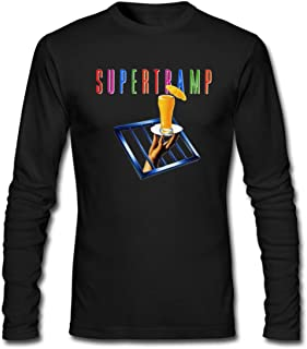 Hefeihe DIY Supertramp-The Very Best of Supertramp a Men's Long-Sleeve Fashion Casual Cotton T-Shirt