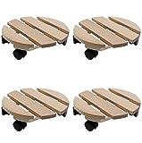 Pflanzenroller Holz MASSIV rund 30 cm bis 120 KG (4)