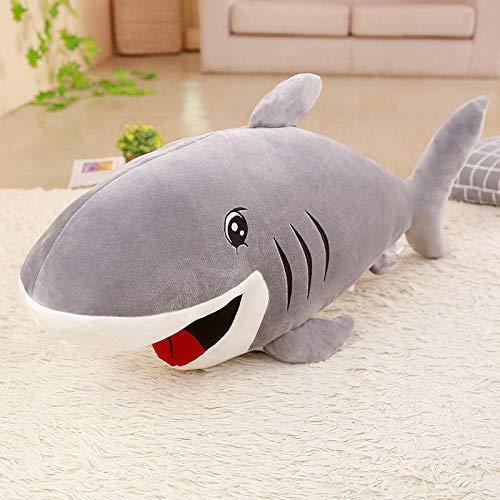 LYXBWT Muñeco de tiburón Feroz, Juguete de Felpa, decoración, Almohada de cumpleaños para niños, Regalo 100cm A