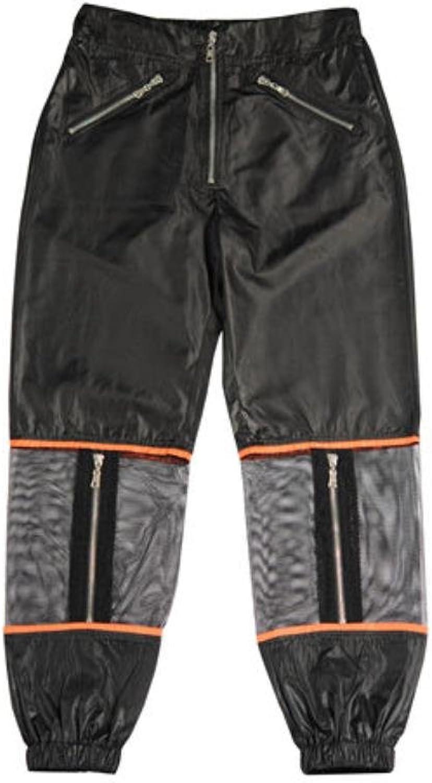 HRJPB Harajuku Cool Punk Street Style Mesh Zipper Casual Women Long Pants