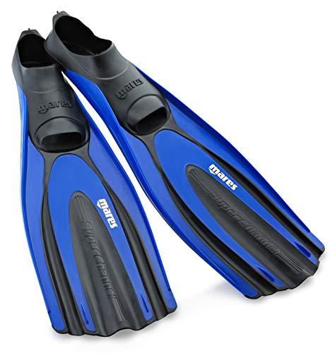 Mares Superchannel Full Foot Scuba Fins, Blue -...