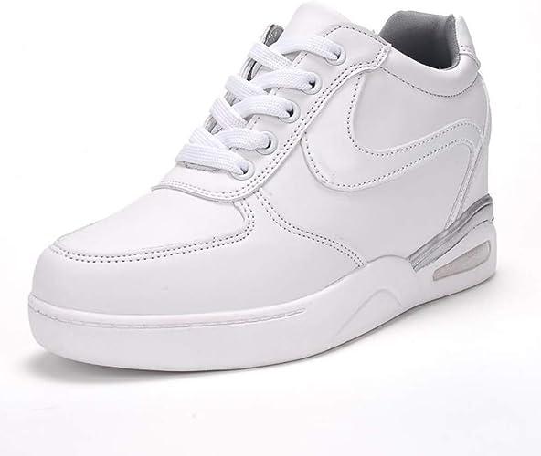 He-yanjing Baskets pour Dames Chaussures Plates Montantes Bottes pour Dames augmentées Cha