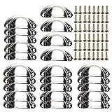 24 piezas Retro Cajón Tire Manijas con 48 piezas de tornillos, Tiradores para puertas de armario Tiradores de Metal Vintage Bronce Manillas para armario, puerta, cajón Silver