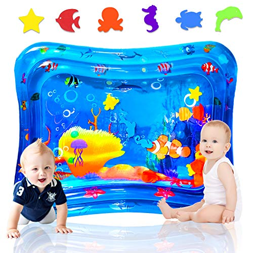 Tappetino Gonfiabile per Neonati,Tappetino Gonfiabile in PVC a Prova d'acqua per Bambini E Neonati,centro di attività divertenti e divertenti per il gioco perfetto per il tuo bambino(100 * 80 CM)