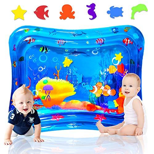 aovowog Cojín de Agua Inflable 100 * 80cm,Alfombra Inflable del Agua para Bebé Inflable Tapete de Bebés Estera de Agua de PVC Entretenimiento de Agua y la Estimulación del Crecimiento de Bebé