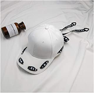 Ulzzang K-Pop Snapback Korean Streetwear Fashion Design Baseball Cap Ring  Clip Ribbon String Design d4cb1078f3a5