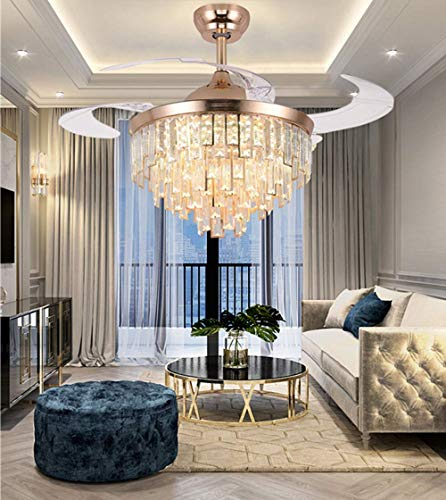 A Million 42' Crystal Ceiling Fan with Light Modern Luxury...