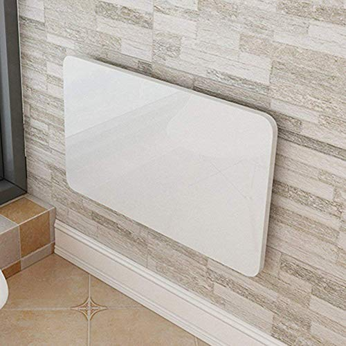TAO Table Murale, Table de Cuisine Pliante Murale Pliante Table De Salle À Manger Bureau D'ordinateur pour Petit Espace (Blanc) (Taille : 100 * 50cm)