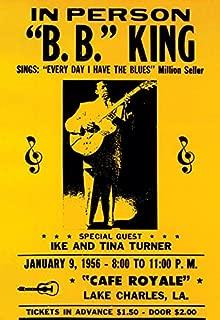 B.B. King Concert Poster, Blues Music, Lake Charles, Louisiana