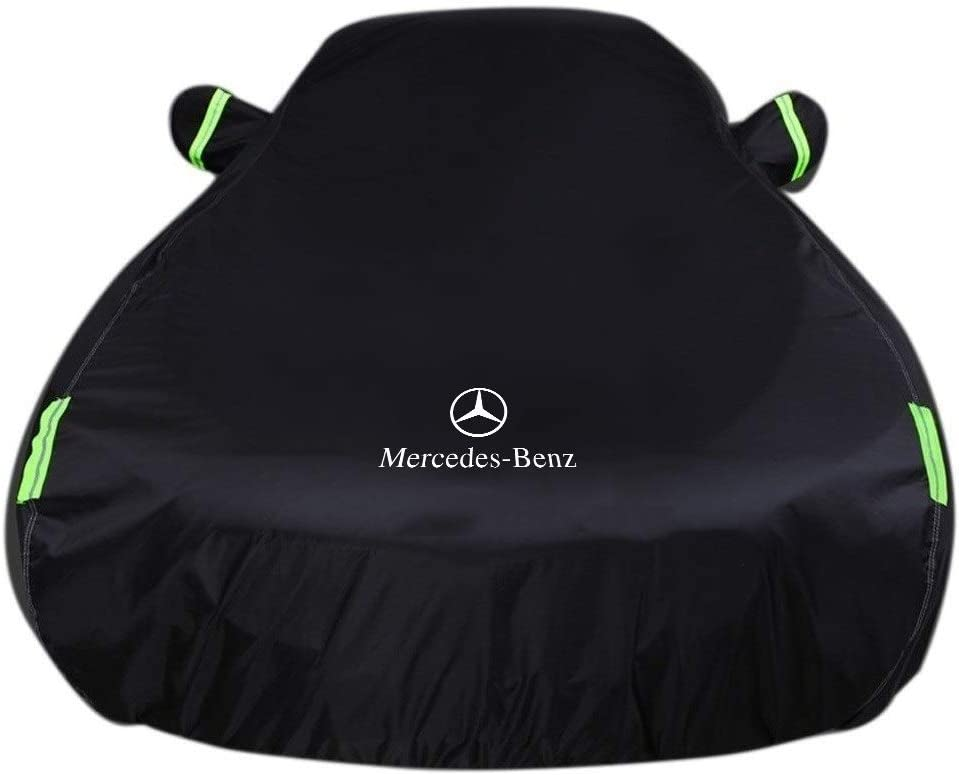 Color : Gray, Size : Built-in lint Compatible with Mercedes-Benz SLC 300 Car Cover Waterproof Breathable Thick Sun Protection Rain Tarpaulin Canvas