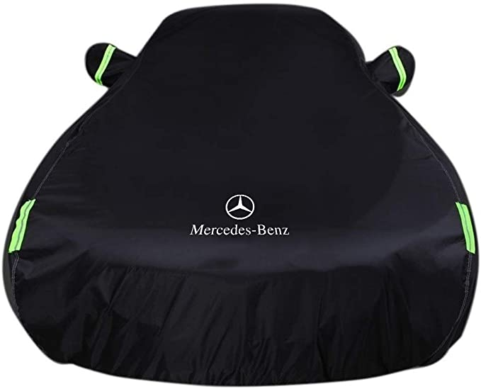 Color : Logo, Size : CL-class Compatible with Mercedes-Benz SLC-class SL-class S-class CL-class CLK-class GL-class M-class SLK Waterproof Breathable All Weather Protection Full Car Covers