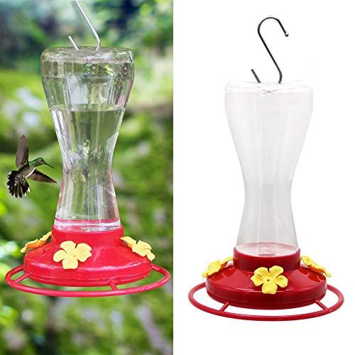 Twinkle Star Outdoor Hummingbird Feeder with 4 Feeding Ports, 20 Ounce