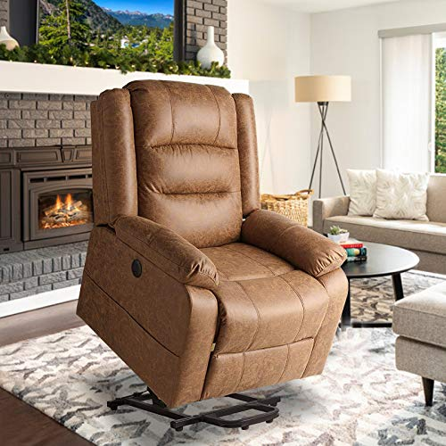 Aoxun Electric Power Lift Recliner Chair, Leather-Like Fab...
