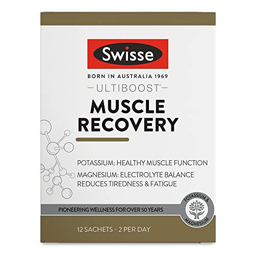 Swisse Ultiboost Magnesium Muscle Recovery Supplement | Energy & Recovery Support | Vegan Supplement