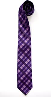 ohne Markenname corbata estrecha en negro morado modelada