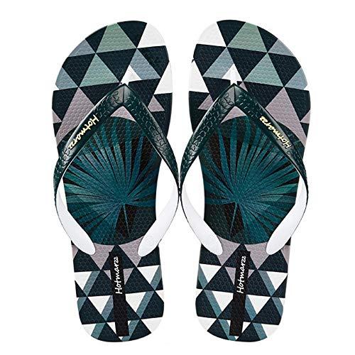 Personalidad chancletas marea masculina moda desgaste simple antideslizante desgaste clip playa pies sandalias y zapatillas-41_verde