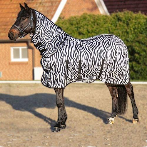 HKM 4669 Fliegendecke Zebra, Halsteil Bauchlatz, Pferdedecke Weidedecke, 145