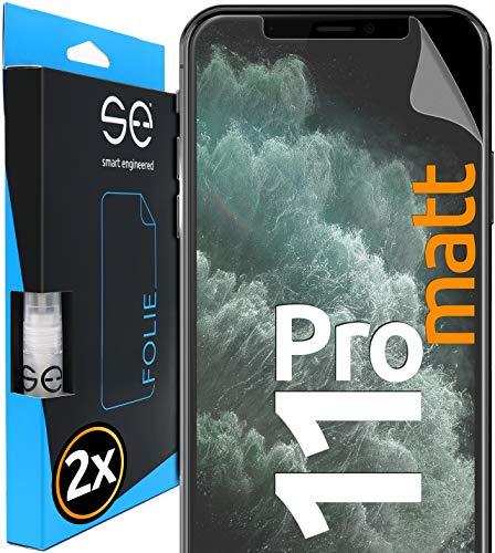 [2 Stück] Entspiegelte 3D Schutzfolien kompatibel mit Apple iPhone 11 Pro, hüllenfre&liche Matte Bildschirmschutz-Folie, Schutz vor Dreck & Kratzern, kein Schutzglas - smart Engineered